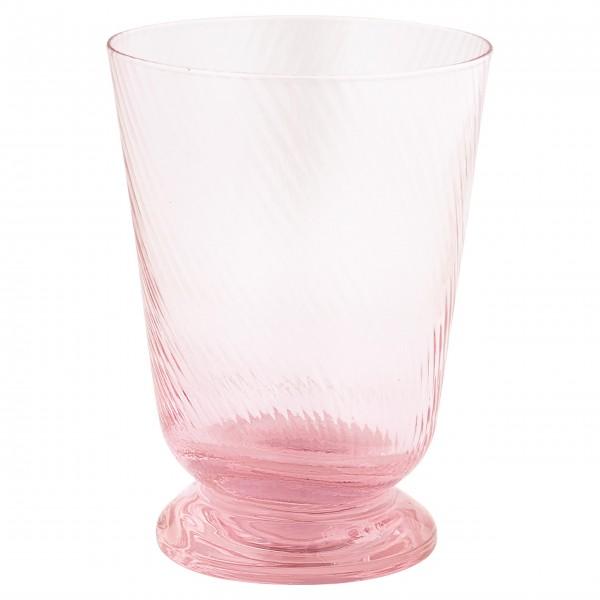 """GreenGate Wasserglas """"Cutting"""" (Pale Pink)"""