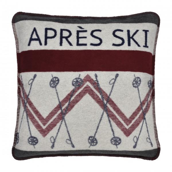 "Kissenhülle ""APRÈS SKI"" - 60 x 60 cm (Grau) von pad"