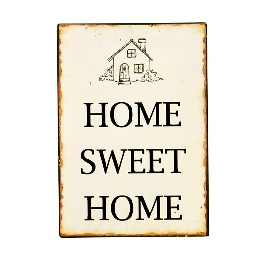 "Ib Laursen Metallschild ""Home Sweet Home"