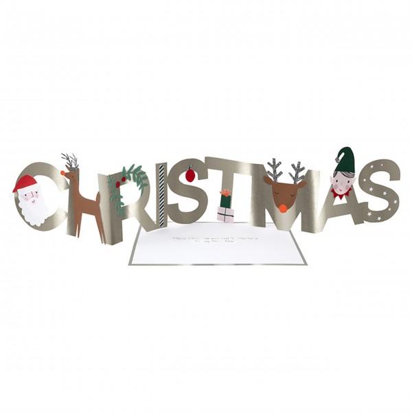 "Grußkarte ""Christmas"" von Meri Meri"