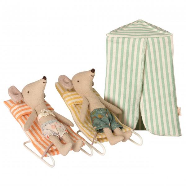 Urlaubs-Mäuse für den Strandausflug