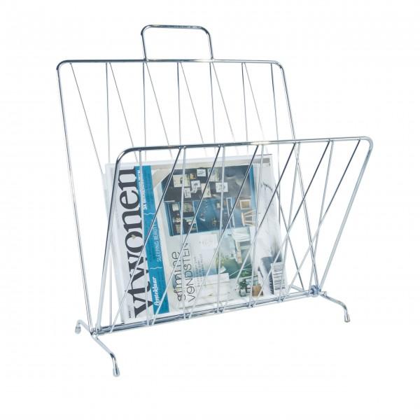 """Schicker Diener: Zeitungsständer """"Diamond"""" (Verchromt)"""