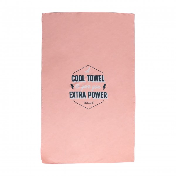 "mr. wonderful* ""A ccol Towel to give you extra power"""