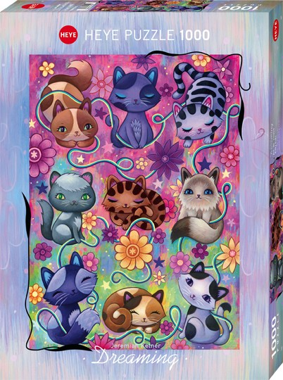 Puzzle Kitty Cats DREAMING, JEREMIAH KETNER Standard 1000 Pieces