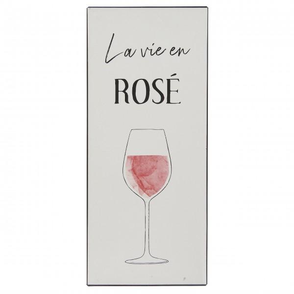"""Ib Laursen Metallschild """"La vie en Rosé"""""""