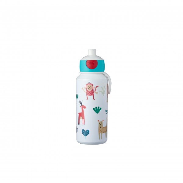 "Mepal Pop-up Trinkflasche ""Campus - Animal friends"" (Bunt), 400 ml"