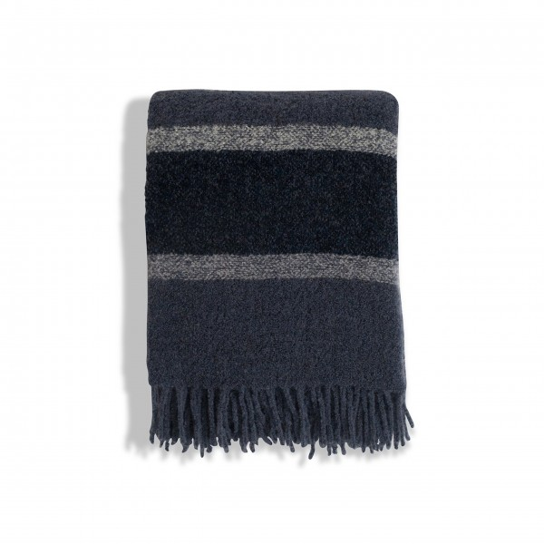 "Lexington Überwurf ""Striped Wool"" (Blau)"