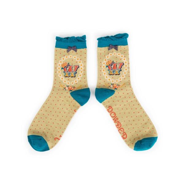 """Powder Damen Socken """"A-Z"""" - Buchstabe W"""