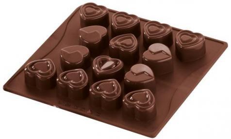 Dr. Oetker Silikon-Schokoladenform Süße Herzen