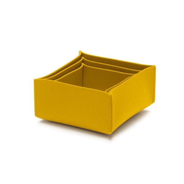 Filz-Box-Set 2 - SML (Gelb/Curry) von HEY-SIGN