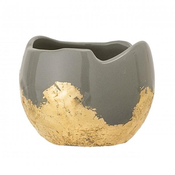 Wunderschöner Keramiktopf mit goldenen Details: von Bloomingville