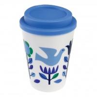 """Kaffeebecher für Unterwegs """"Folk Doves"""" von Rex LONDON"""