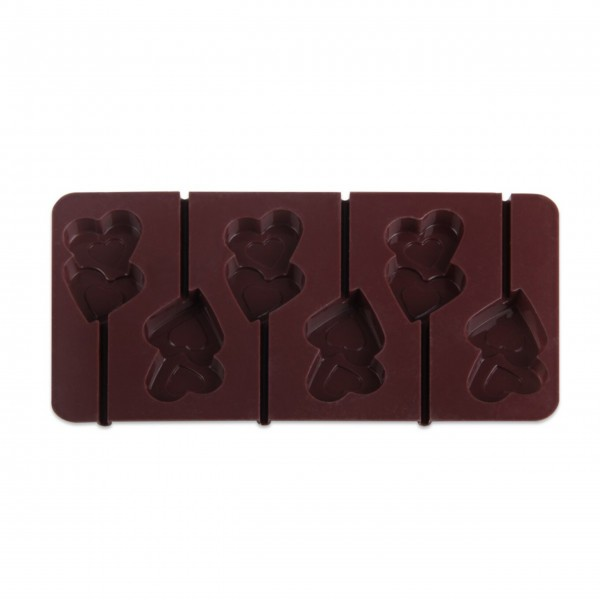 "Dr. Oetker Silikon-Schokoladenform ""Lolli-Herzen"" - 2er Set-1"