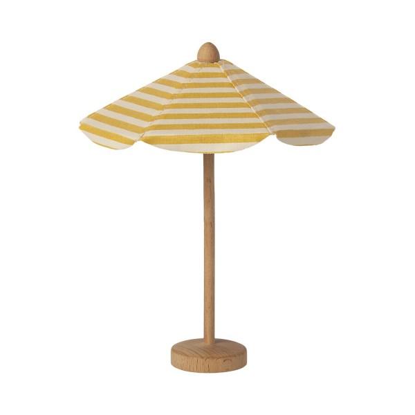 """Maileg Maus Sonnenschirm """"Streifen"""" (Gelb / Weiß)"""