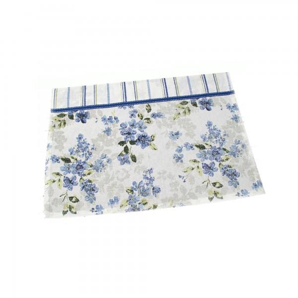 """Country Home Style Tischset """"Iris"""" (blau/weiß) 33x48cm"""