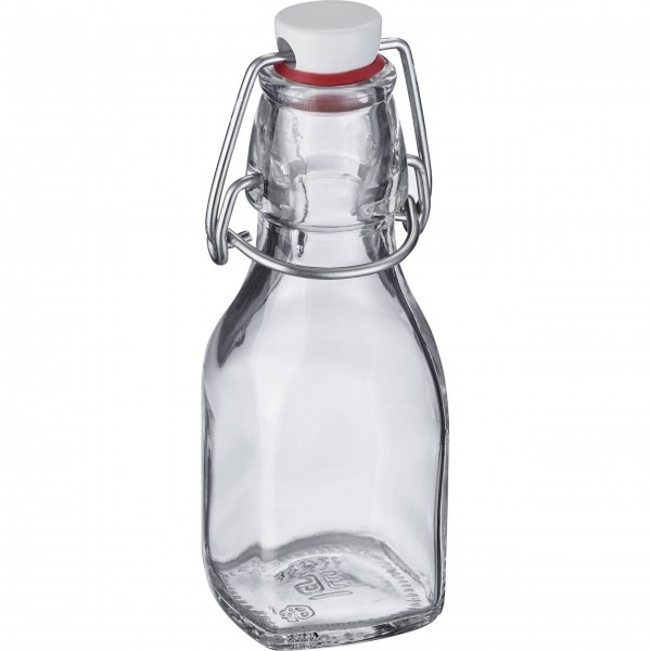 Westmark Bügelverschlussflasche (Transparent / Eckig) - 125 ml