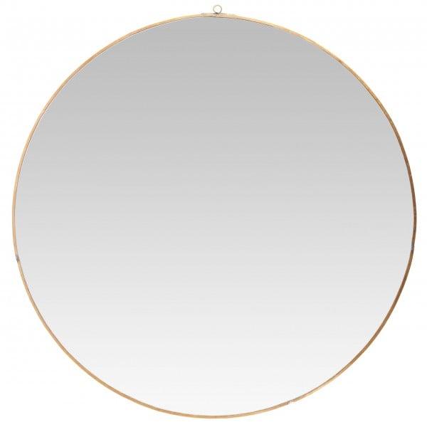 Runder Messing-Spiegel von Ib Laursen