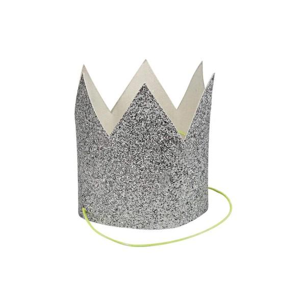 Glitzer-Krone Silber Mini von Meri Meri