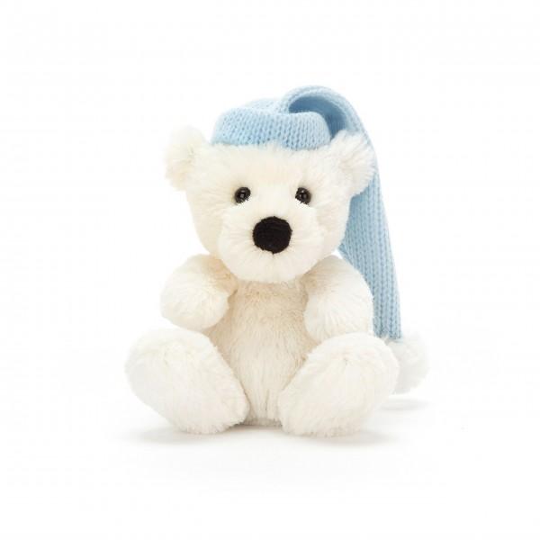 "Jellycat Eisbär Baby ""Poppet"" (Weiß/Blau)"