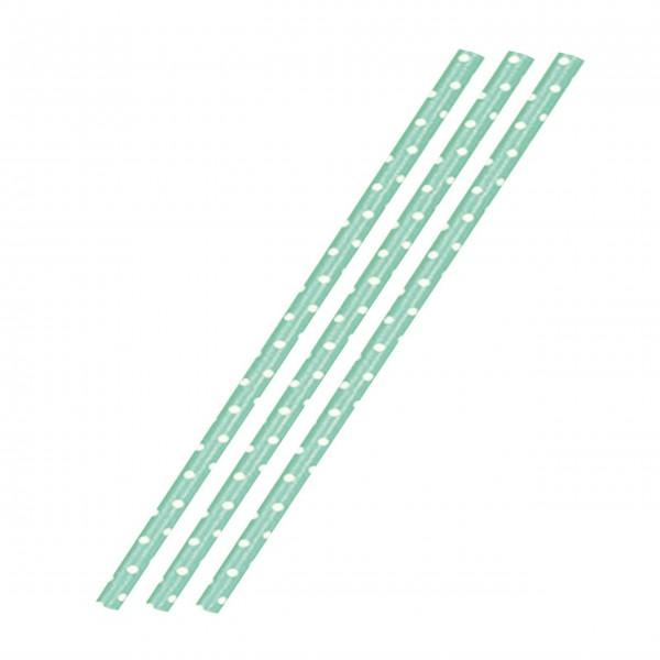 Westmark Trinkhalme aus Papier 36 Stück (Weiß/Grün)