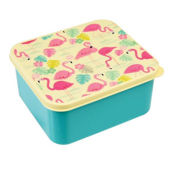 "Cooles Flamingo-Design für gute Laune in der Mittagspause - Lunchbox ""Flamingo Bay"""