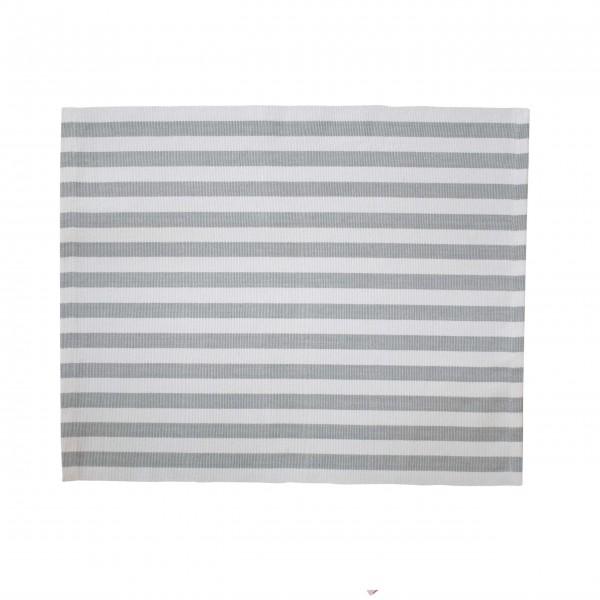 Grau gestreift: Baumwoll-Platzset von Krasilnikoff