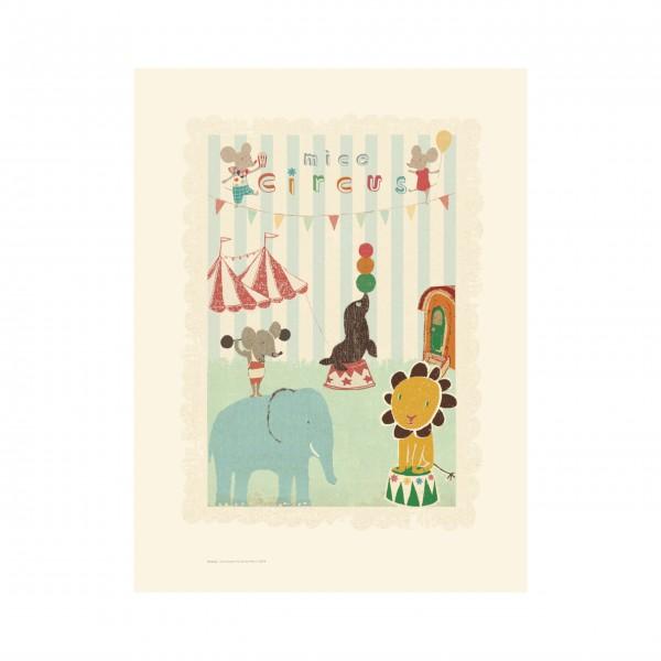 """Maileg Poster """"Zirkus-Maus und Freunde"""""""