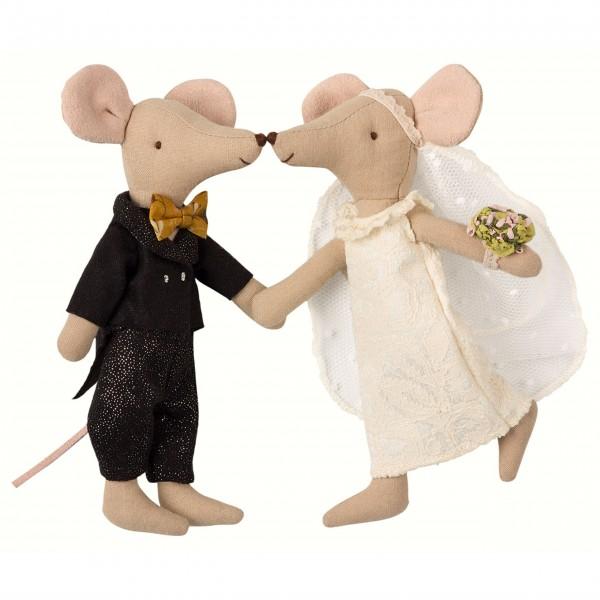 Süßes Mäuse-Hochzeitspaar