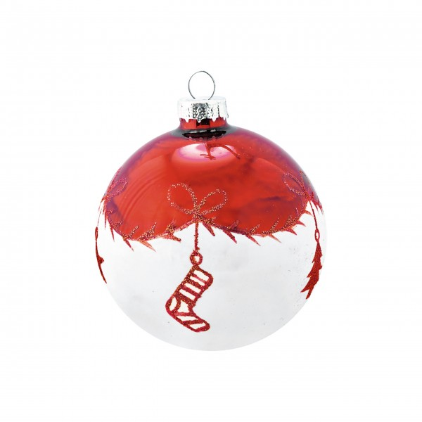 "Greengate Weihnachtskugel aus Glas ""Joselyn"" (White)"