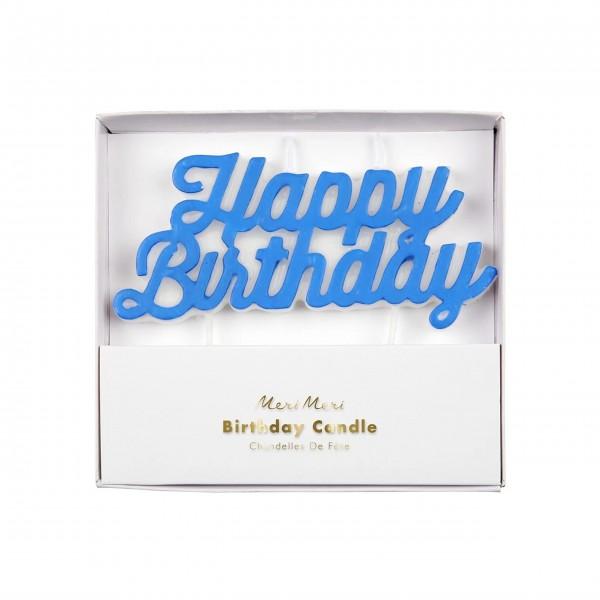 """Geburtstagskerze """"Happy Birthday"""" (Blau) von Meri Meri"""