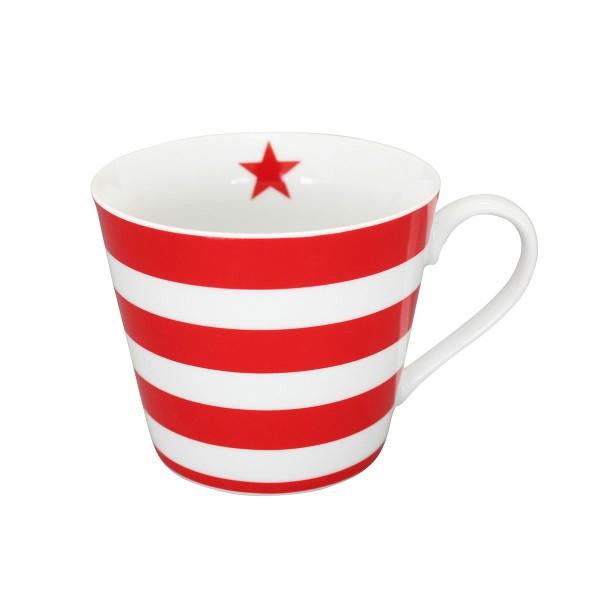 "Krasilnikoff - Happy Cup ""Stripes"" (Rot)"