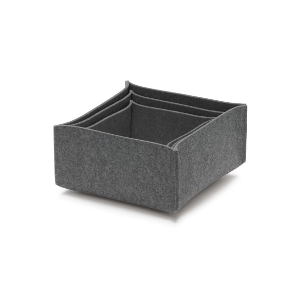 Filz-Box-Set 2 - SML (Grau/Anthrazit) von HEY-SIGN