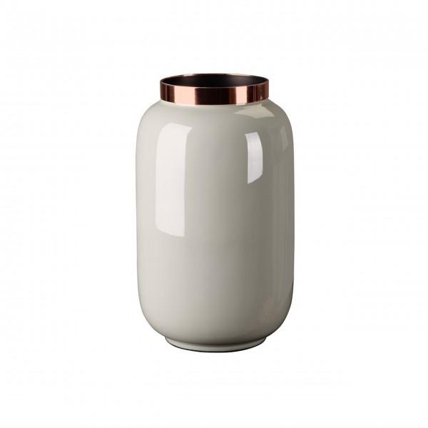 """Vase """"Saigon"""" - S (Hellgrau/Kupfer) von Gift Company"""