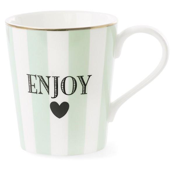 """Frische Farbe, cooles Design - Miss Étoile Henkeltasse """"Enjoy"""""""