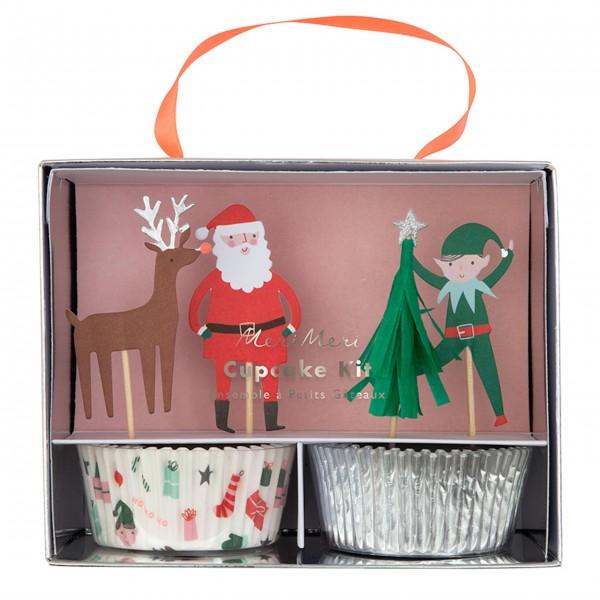 """Cupcake-Set """"Weihnachten"""" von Meri Meri"""