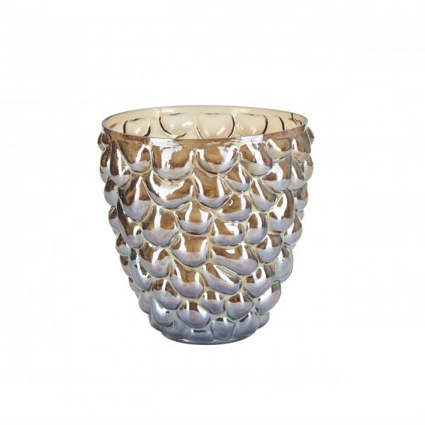 Große Vase mit Kolben (Braun) von Bahne