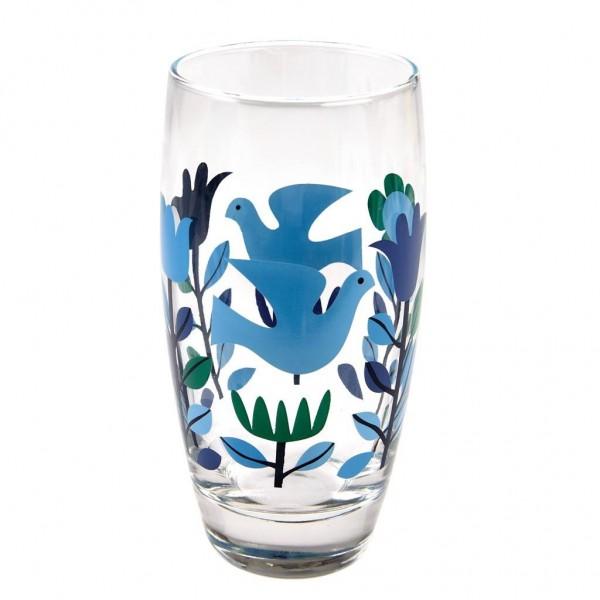"""Wasserglas """"Folk Dove"""" von Rex LONDON"""