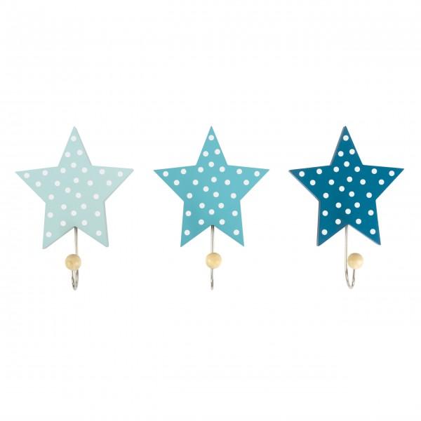 JaBaDaBaDo Wandhaken Sterne (Blau)
