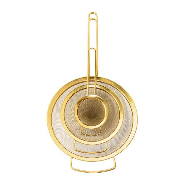 Bloomingville Küchensieb (Gold) im 3er-Set