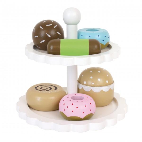 JaBaDaBaDo Holzspielzeug Etagere mit Kuchen