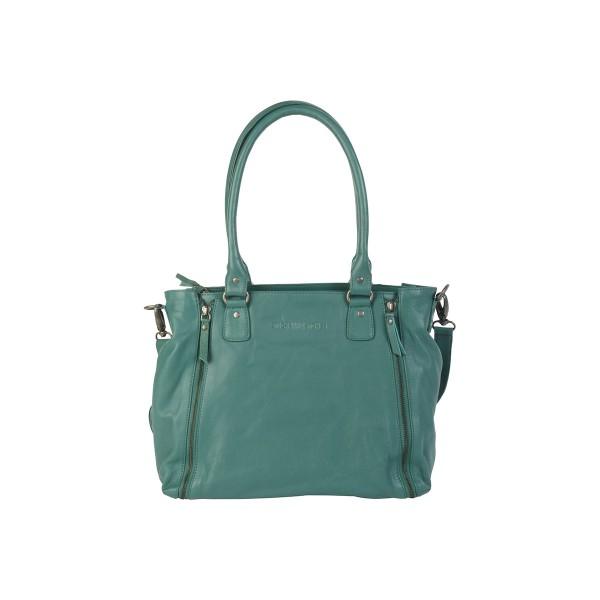"Sticks and Stones ""Santander Bag Washed"" (Emerald Green)"