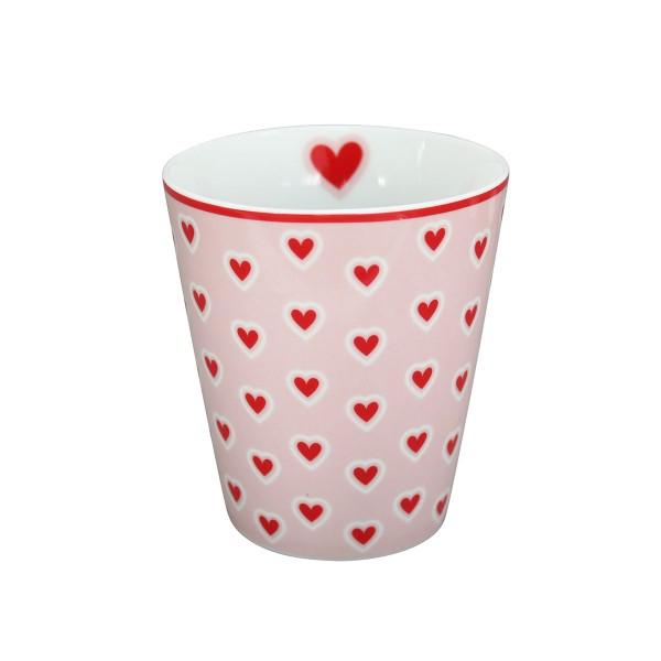 "Krasilnikoff - Happy Mug ""Hearts"" (Rosa)"