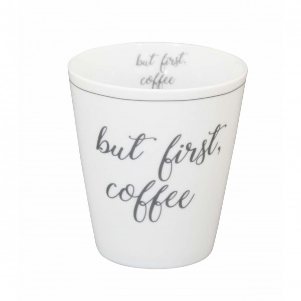 "Krasilnikoff - Happy Mug ""But first coffee"""
