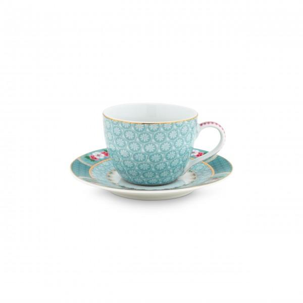 "Pip Studio Espresso Tasse ""Blushing Birds"" (Blau)-26-51004081-1"