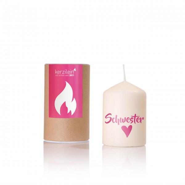 Schwesterherz: entzückende Kerze von Kerzilein