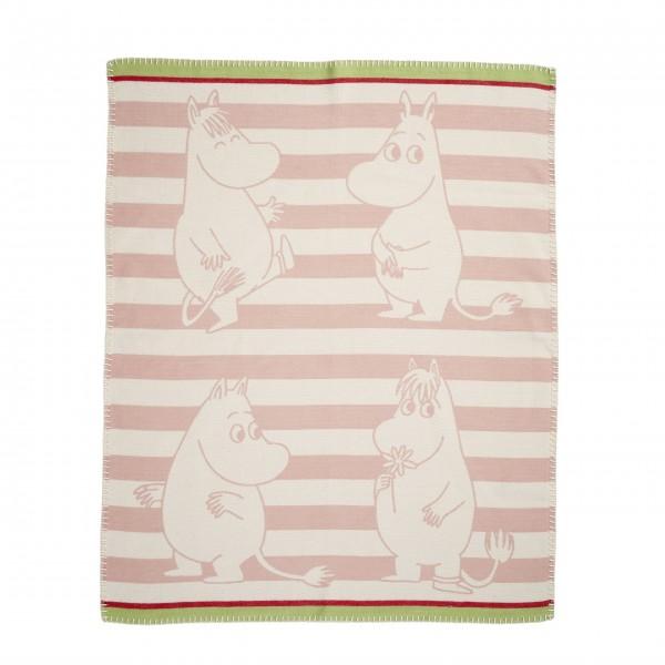 "Klippan Kinderdecke ""Moomin"" in pink"