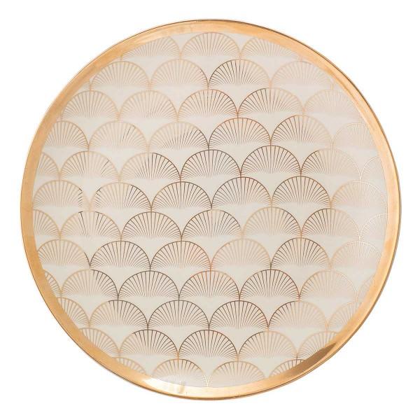 Goldstück für den Esstisch: Keramikteller von Bloomingville
