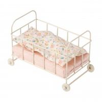 Maileg Kinderbett aus Metall - 10 cm (Creme)