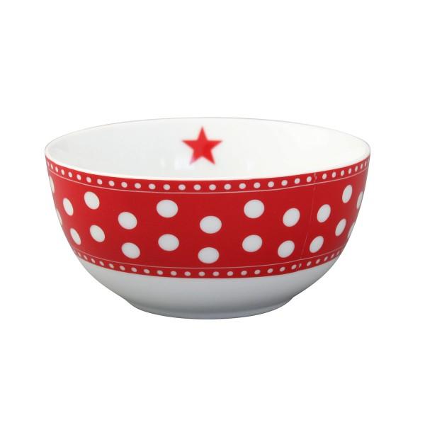 "Krasilnikoff Schale - Happy Bowl ""Dots"" (Rot)"