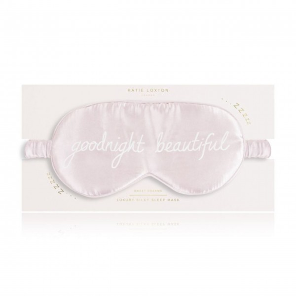 "Schlafmaske ""Goodnight Beautiful"" (Rosa) von KATIE LOXTON"